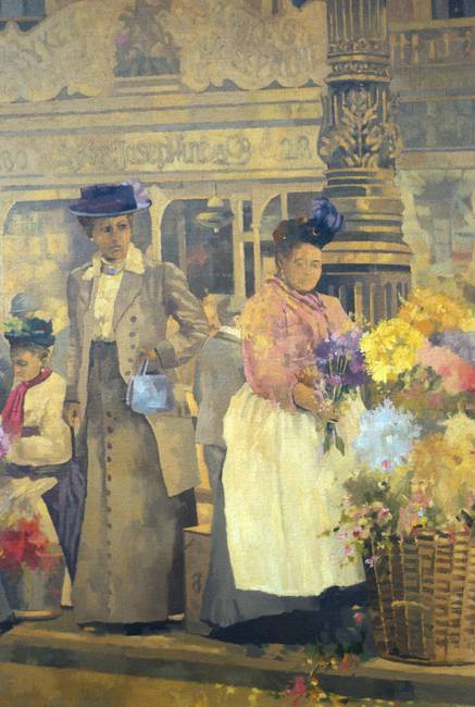 Flower Seller, London by Peter Miller