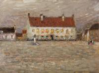 Square, Fort-Philippe by Henri E. A. Le Sidaner