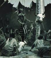 Mandan Initiation Ceremony by Frederic Remington