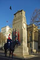 The Cenotaph, Whitehall, London with Guard