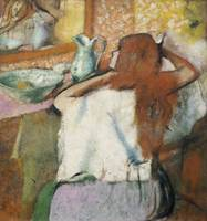 Woman at her Toilet (oil on canvas)