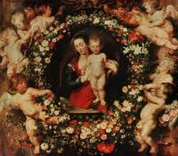 Virgin with a Garland of Flowers, c.1618-20 (oil o