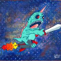 Space Angler Art Prints & Posters by Christopher Bonnette