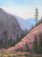 Original Painting, Purple Valley Landscape