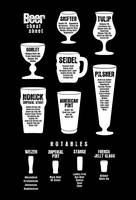Beer Poster Cheat Sheet Black Reversed