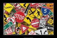 US Traffic Signs Collage