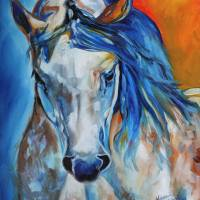 ROYALTY EQUINE ABSTRACT by Marcia Baldwin