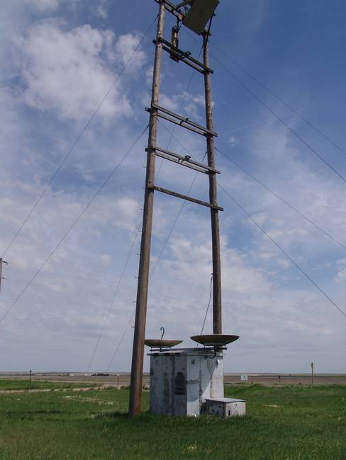 "Wood Pole Tower ""H"" Frame TL Radio Relay System"