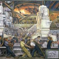 """""""Detroit Industry, North Wall, 1932-33"""" by fineartmasters"""