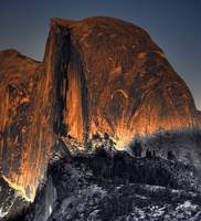 Half Dome Alpenglow by Paul Gaither