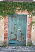 Blue Rusted Door