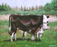 cows in field_demo small painting