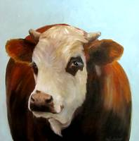 Daisie Cow Painting