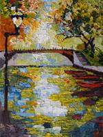 Canal in Annecy France Oil Painting