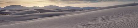 White Sands Desert Sunset Panorama
