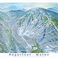 """Sugarloaf Maine"" by jamesniehuesmaps"