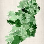 """Ireland Watercolor Map"" by ModernArtPrints"