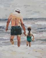Grandpa and Granddaughter (Sarah) at the Beach