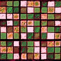 Sudoku Abstract Brown Green by Karen Adams