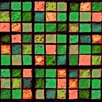 Sudoku Abstract Green Coral by Karen Adams