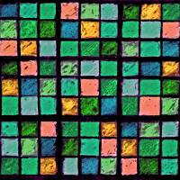Sudoku Abstract Blue Green Orange by Karen Adams