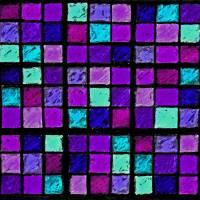 Sudoku Abstract Purple Turquoise by Karen Adams