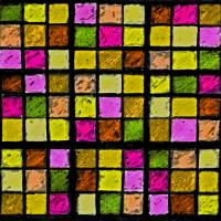 Sudoku Abstract Yellow Green Red by Karen Adams