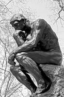 The Thinker in Black and White