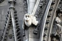 Gargoyle on Fascade Notre Dame Cathedral
