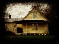 American Gothic House grunge