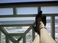 Relaxing by the Gulf of Mexico