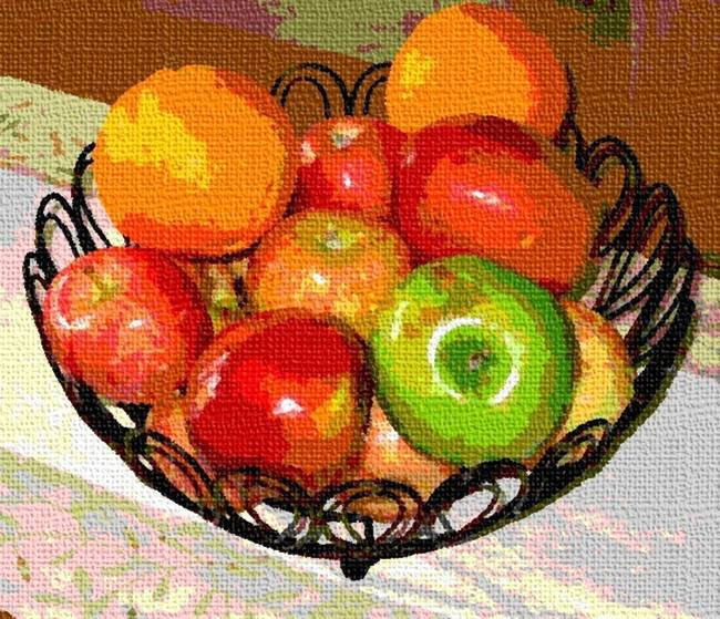 BOWL OF FRUIT.