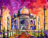 Taj Mahal India Temple Mixed Media Art