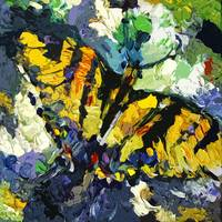 Swallowtail Butterfly Modern Decorative Art by Ginette Callaway