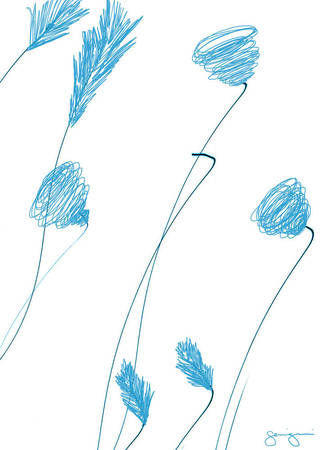 Simple Flowers#1-Inverted