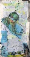 Snow Boarder In Mask Monoprint