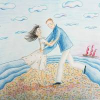 Red sails Art Prints & Posters by Solomiya Trylovska