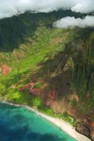 Aerial view of Napali Coast