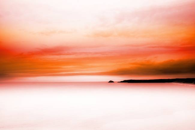 fiery red sea view