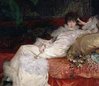 Sarah Bernhardt 1876 (oil on canvas)