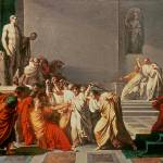 """Death of Julius Caesar (100-44 BC) (oil on canvas)"" by fineartmasters"