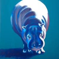 Blue Hippo Art Prints & Posters by Evelyn Curry