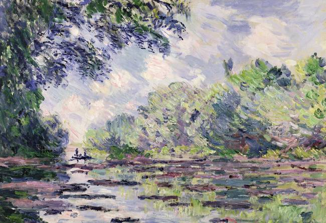 The Seine at Giverny, 1885 )oil on canvas(