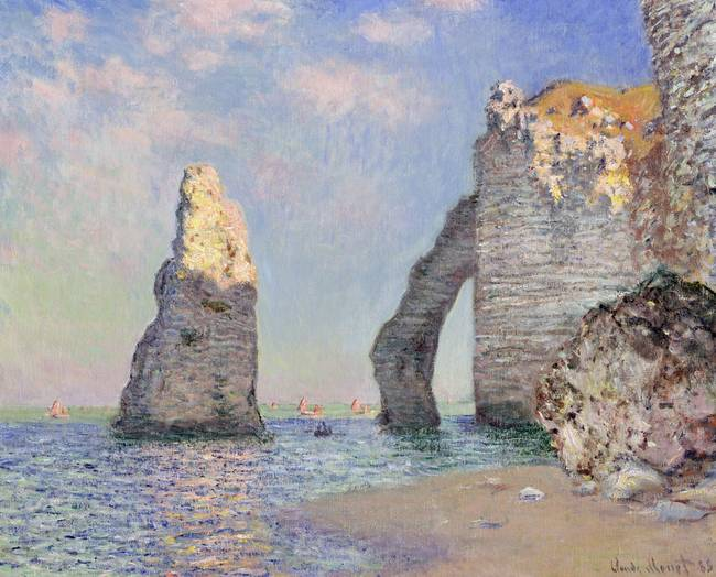 The Cliffs at Etretat, 1885 )oil on canvas(