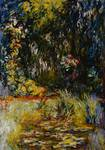 Corner of a Pond with Waterlilies, 1918 (oil on ca