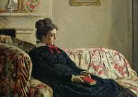 Meditation Madame Monet on the Sofa, c.1871 (oil o