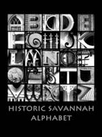 Historic Savannah Alphabet B&W poster