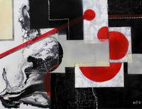 geometry in space, mm on canvas, 76x100cm., 2006