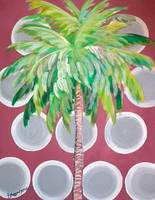 Mauve Polka Dot Palm Tree