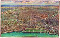 Chicago Illinois Panoramic Map